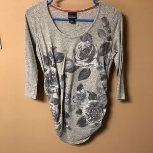 Maternity Quarter-Sleeve Shirt